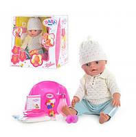 Кукла BB 8001 Е, Baby Born, многофункциональная кукла с аксессуарами, как настоящий маленький ребенок