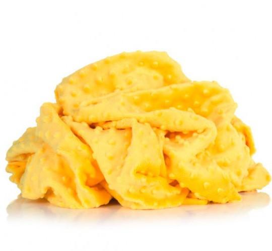 Плюшевая ткань Minky желтый (плот. 380 г/м.кв)