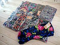 Cултанки штаны БАТАЛ 48-62 размер женские цветные Jujube с карманами и манжетами (разные рисунки) ЛЖЛ-18