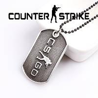 Кулон жетон Counter-Strike CS:GO стальной