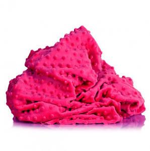 Плюшевая ткань Minky фуксия (плот. 380 г/м.кв)