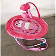 Детский шезлонг качалка Baby Tilly BT-BB-0002 (розовый), фото 2