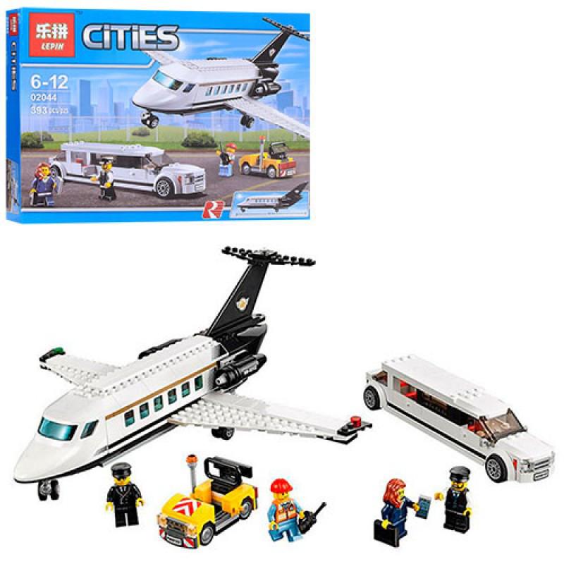 Конструктор из серии Город (Cities) - Аэропорт, самолет, фигурки, 393 деталей, 02044