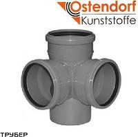 Крестовина двухплоскостная 110/110/110*87 для внутренненей канализации Ostendorf