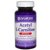 Ацетил-L-карнитин  60 капс  500 мг улучшение памяти интеллекта омоложение клеток мозга  MRM
