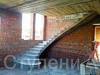 Бетонная лестница для дома на второй этаж