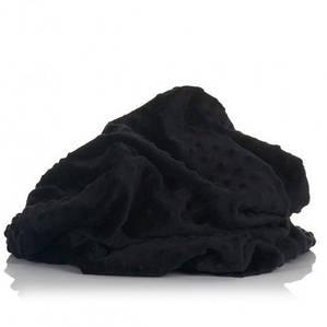 Плюшевая ткань Minky черный (плот. 380 г/м.кв)