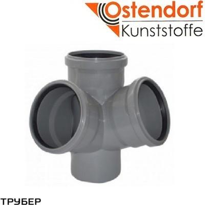Крестовина двухплоскостная 110/110/110*67 для внутренненей канализации Ostendorf