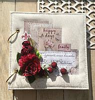 """Сберкнижка на свадьбу. Подарок для молодоженов """"Свадьба в цвете марсала (бордовая свадьба)"""""""
