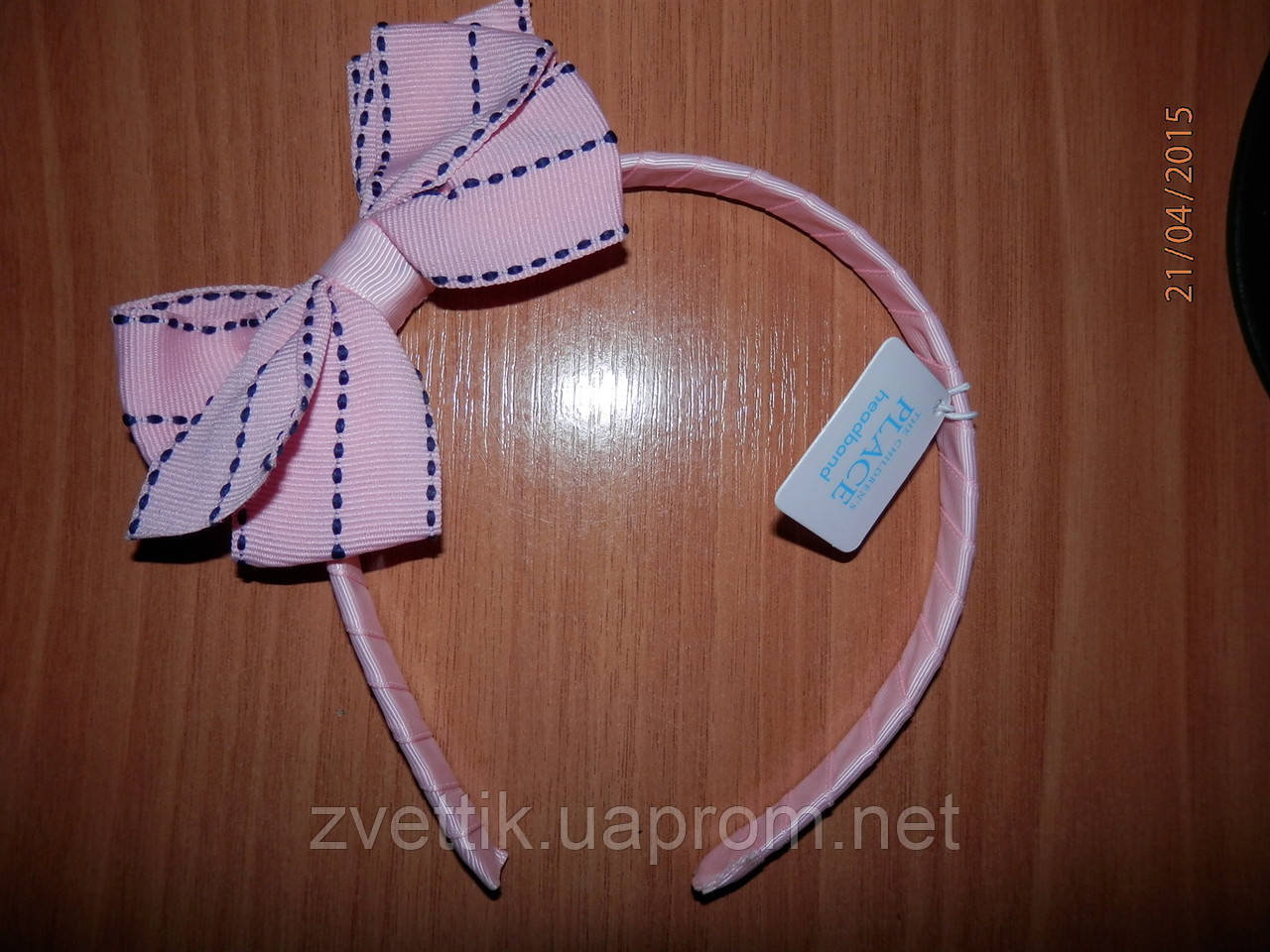 Обруч для волос для девочки розовый  Childrens Place (США)