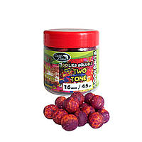 Бойлы насадочные пылящие CarpZone Boilies Soluble Two Tone Hookbaits Plum & Banoffee (Слива Баноффи)