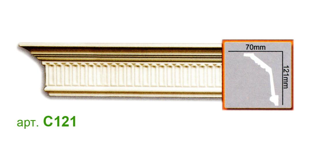 Карниз Gaudi C121 (121x70)мм