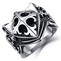 Мужское кольцо из нержавеющей стали с геральдическим щитом, р. 18, 19, 20, 21.5, фото 1