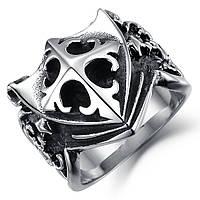 """Мужское кольцо """"Крестоносец"""" из нержавеющей стали, фото 1"""