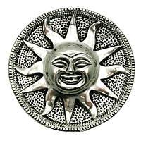 """Подставка под благовония """"солнце"""" металл (d 9 см) (непал)"""
