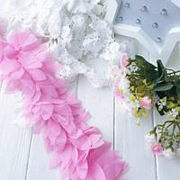 Шифоновые лепестки розовые 20 см.
