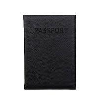 Обложка для паспорта Fiore Pass, чёрная