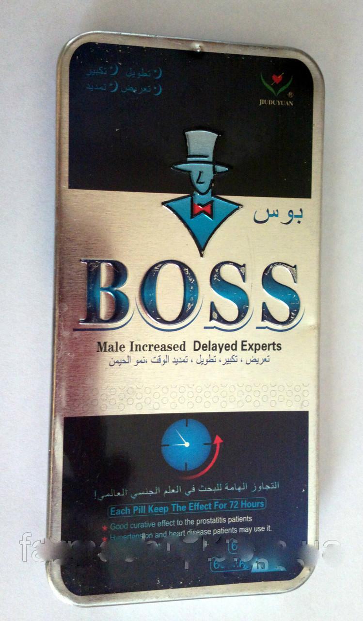 Таблетки для потенции препарат для повышения потенции Boss Босс,10таблеток в упаковке