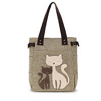 Сумка женская текстильная Fiore Kitty, бежевая