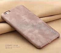 Чехол для телефона iPhone 6/6s под кожу X-Level, бежевый