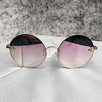 Очки солнцезащитные Gucci Sunglasses Circle with Bee Gold Pink (реплика) 324967dfadab6