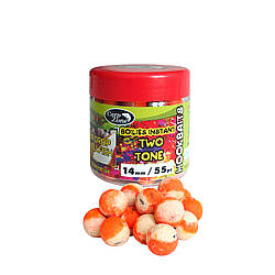 Бойлы насадочные вареные CarpZone Boilies Instant Two Tone Hookbaits Pear Drop & Shelfish Кислая Груша Моллюск