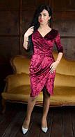 Вечернее платье прилегающим силуэтом на запах