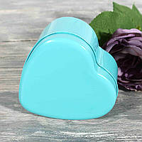 Жестяная подарочная коробка однотонная сердце СРЕДНЯЯ 1821147-23