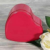 Жестяная подарочная коробка однотонная сердце БОЛЬШАЯ 1821147-23