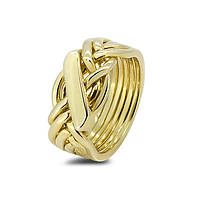 Мужское золотое кольцо головоломка от Wickerring