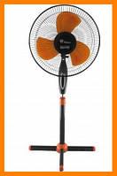 Вентилятор Domotec FS-1619 (черно-оранжевый)