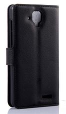 Кожаный чехол-книжка для Lenovo A536 красный, фото 2