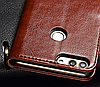 Кожаный чехол-книжка для Huawei P Smart черный, фото 2