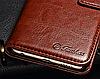 Кожаный чехол-книжка для Huawei P Smart черный, фото 3