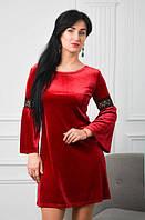 Молодежное платья свободным кроем от груди (размер 42-48), фото 1