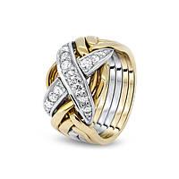Мужское золотое кольцо головоломка с бриллиантами от Wickerring