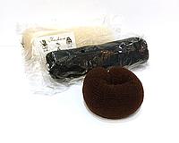 Бублик-валик для волос с кнопкой, фото 1