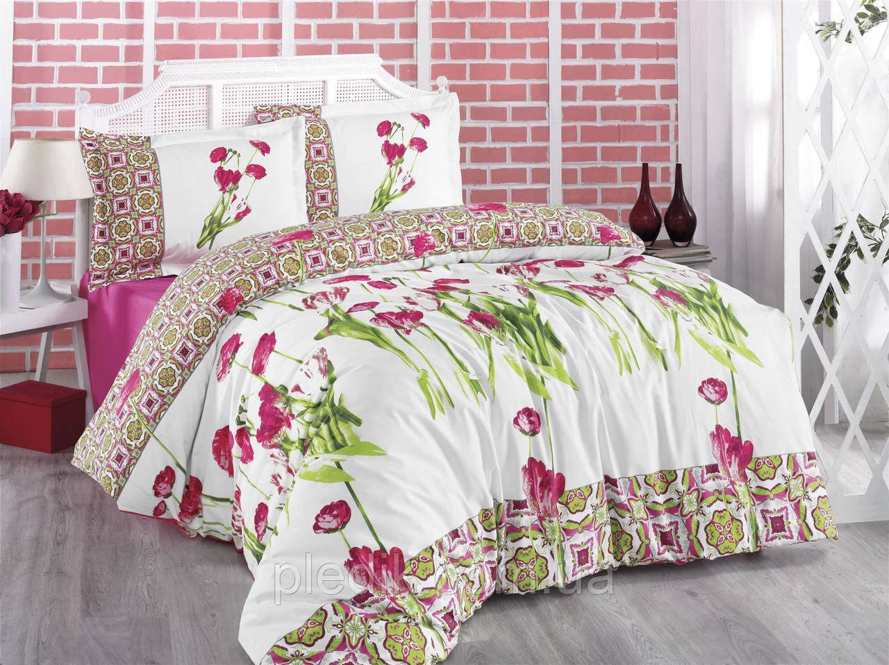 Семейное постельное бельё ранфорс 160х220х2 Gokay Rhapsody