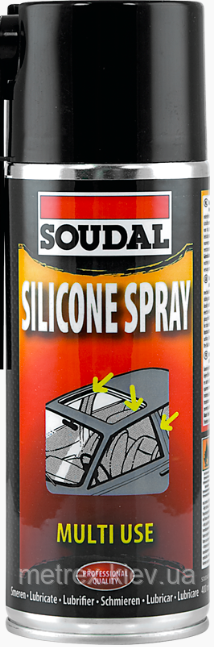 Силиконовое масло Silicone Spray Soudal 400 мл.