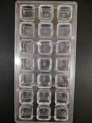 Форма для конфет поликарбонатная Квадрат классический, фото 2
