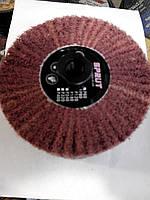 Круг шлифовальный Sprut из нетканного  абразивного материала скотчбрайта 100х100х19 мм.  р60