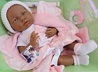 Большая кукла пупс новорожденный малыш негриенок Berenguer 18783 39 см