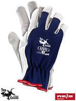 Перчатки RLTOPER (REIS - Top Gekon), комбинированные из козьей кожи и хлопка, фото 1