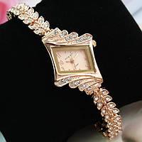 Шикарные позолоченые часы! Swarovski