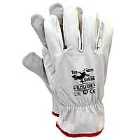 Перчатки RLCSLUXOR (REIS - Top Gekon), гладкие цельнокожанные., фото 1