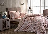 Семейный комплект постельного белья TAC SATIN BLANCHE розовый