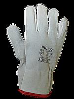 Перчатки PILOT цельнокожанные (спилок/гладкая кожа), фото 1