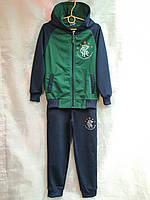Спортивный костюм подростковый для мальчика от 12 до 14 лет,темно синий с зеленым, фото 1