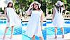 Платье больших размеров 46+  свободного кроя / 3 цвета арт 5923-217, фото 3