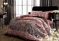 Семейный комплект постельного белья TAC SATIN CHANELLE PEMBE